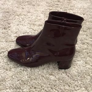 Forever 21 Maroon Ankle Boots Size 10